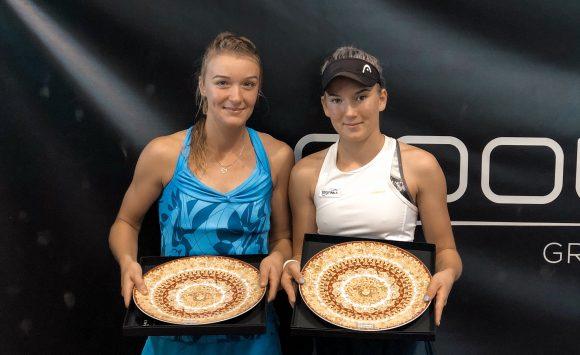 Finalist in doubles on W100